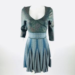 Zac Posen Fit & Flare Twirl Cocktail Dress Sz M